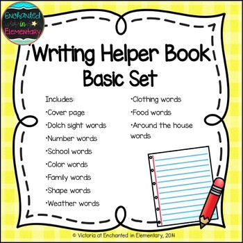 Writing Helper Book- Basic Set