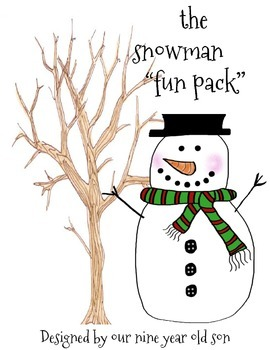 "the snowman ""fun Pack""- (Created by our nine year old)"
