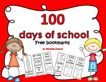 100 days of school   FREE bookmarks