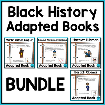 Adapted Books with WH Questions: Black History BUNDLE {Autism & Special Ed}
