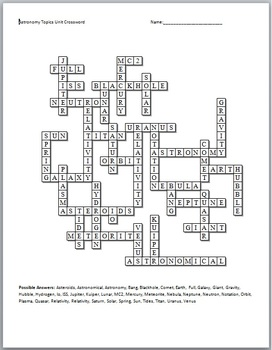 Sun-Earth Moon Crossword Puzzle - Pics about space
