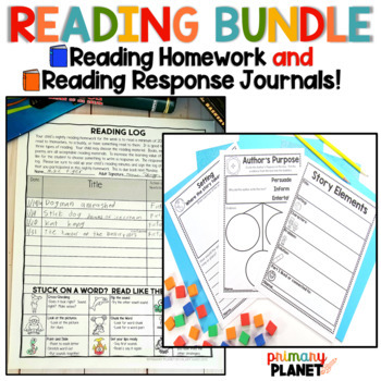 Nightly Reading Log and Reading Response Journals!