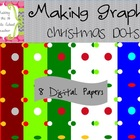 Christmas Dots FREE ~ 8 Digital Papers