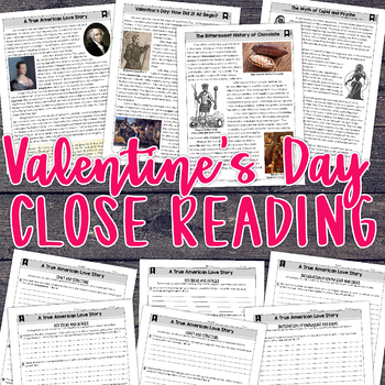 Close Reading Passages for Valentine's Day