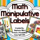 Cute Classroom Labels Math Manipulatives