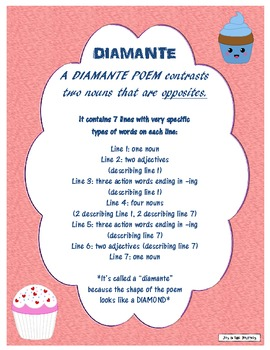 Diamante Poetry Packet