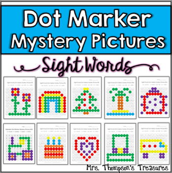 Dot Marker Sight Words Mystery Picture Activities