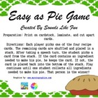 Easy as Pie Game