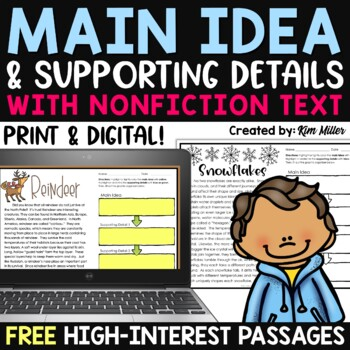 Find the Main Idea with Non-Fiction Texts Winter Edition *