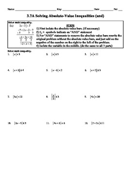 Printables Solving Absolute Value Equations Worksheet solving absolute value inequalities worksheet davezan how to solve story problems hurry this offer ends