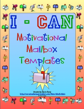 I Can Motivational Mailbox Template By Math Mojo Tpt