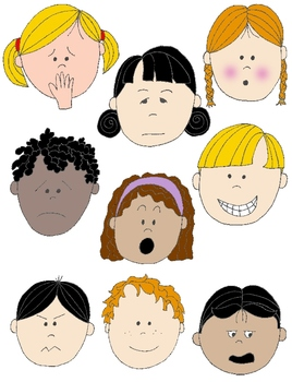 In action faces 2 clip art 18 free s to show feelings and emotions