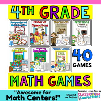 Math Games for an ENTIRE YEAR {upper elementary}