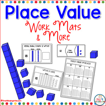 base ten in kindergarten, KCC2, math centers, math work stations,