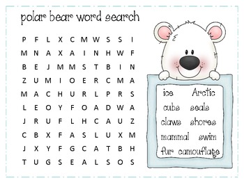Polar Bear Wordsearch