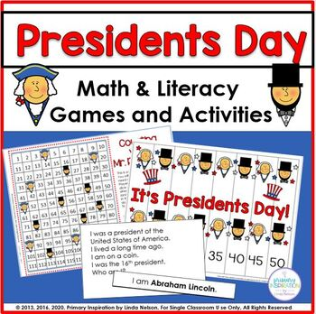 Presidents Day Common Core Mini Pack Math & Literacy