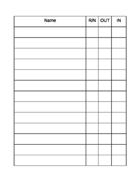 Bathroom Sign Out Sheet And Bathroom Sign Sign In Sign Out Sheet More