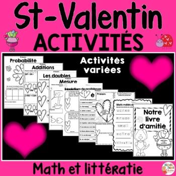 Saint-Valentin Math et Littératie - Français - French Vale