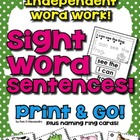 Sight Word Sentences - Read It! Build It! Write It! 120 Sentences