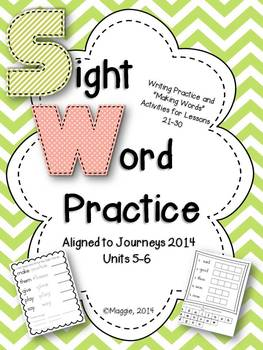 Sight Word Practice Aligned with Journeys 2014 Lessons 21-30
