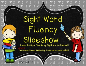 Sight Word Slideshow Aligned to Lessons 21-24 in Journeys