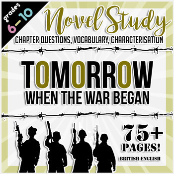 Tomorrow When the War Began Novel Study