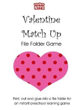 Valentine Match Up File Folder Game