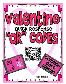 "Valentine Quick Response ""QR"" Codes  Self Checking Subtrac"