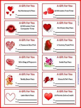 VALENTINE'S DAY REWARD COUPONS - TeachersPayTeachers.com