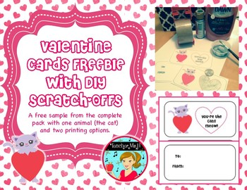 Valentine's Day Scratch-off Cards Craftivity FREE