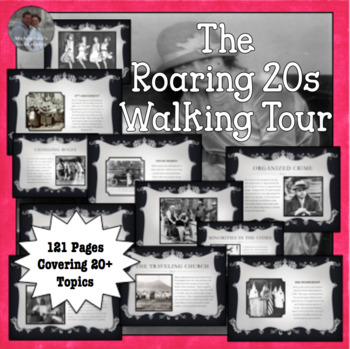 Walking Tour of the Roaring Twenties 20s 1920s U.S. History Centers Activity