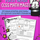 Weekly Math Magic - First Grade, Set 1 (CCSS aligned)